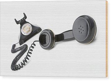 Vintage Phone  Wood Print