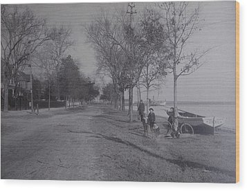 Vintage Photograph 1902 Front Street New Bern Nc Wood Print by Virginia Coyle