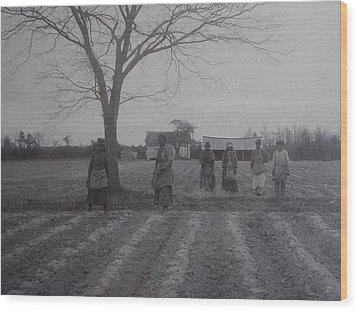 Vintage Photograph 1902 New Bern North Carolina Sharecroppers Wood Print by Virginia Coyle