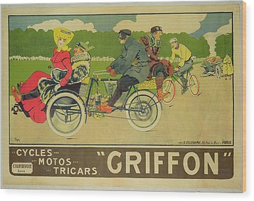 Vintage Poster Bicycle Advertisement Wood Print by Walter Thor