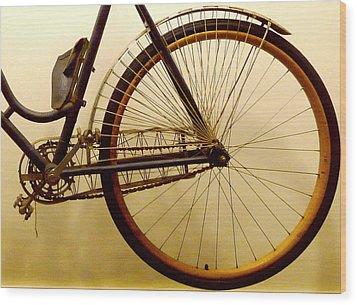 Vintage Remington Bike Wood Print by Lori Seaman