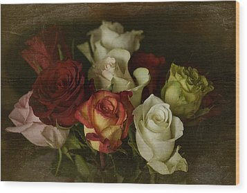 Wood Print featuring the photograph Vintage Roses Feb 2017 by Richard Cummings