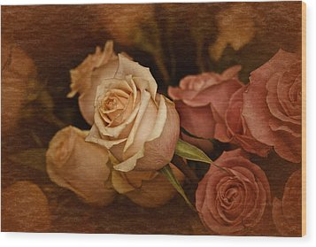 Wood Print featuring the photograph Vintage Roses March 2017 by Richard Cummings