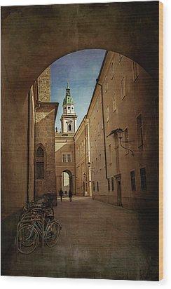 Wood Print featuring the photograph Vintage Salzburg by Carol Japp