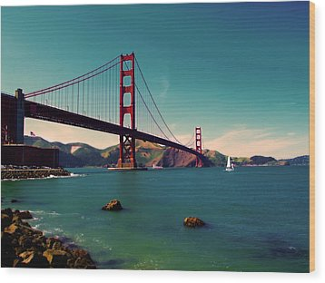Vintage San Francisco Wood Print