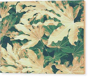 Vintage Season Gold Wood Print by Rebecca Harman