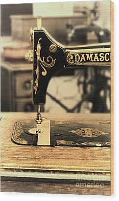 Wood Print featuring the photograph Vintage Sewing Machine by Jill Battaglia