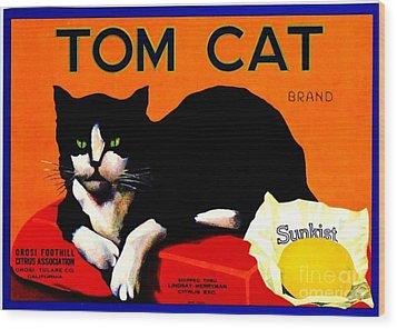 Vintage Sunkist Tom Cat Wood Print