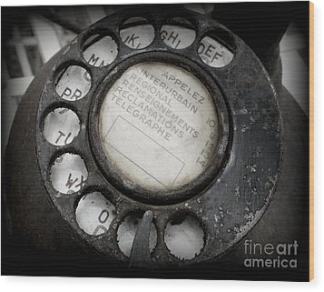 Wood Print featuring the photograph Vintage Telephone by Lainie Wrightson