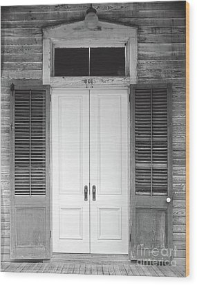 Wood Print featuring the photograph Vintage Tropical Weathered Key West Florida Doorway by John Stephens