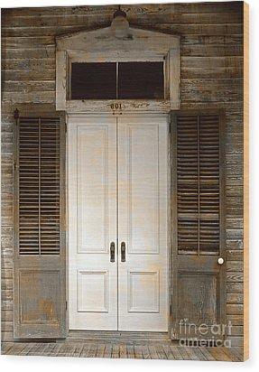 Vintage Tropical Weathered Key West Florida Doorway Wood Print by John Stephens