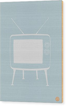 Vintage Tv Poster Wood Print by Naxart Studio