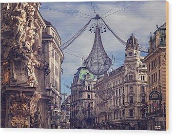 Vintage Vienna Wood Print by Carol Japp