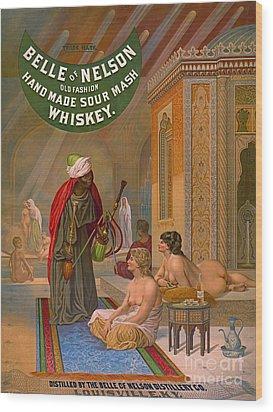Vintage Whiskey Ad 1883 Wood Print by Padre Art