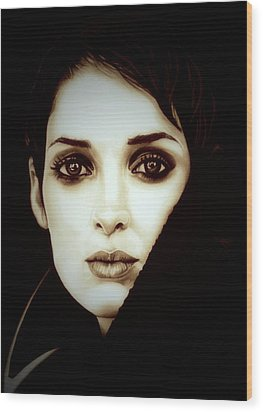 Vintage Winona Ryder Wood Print by Fred Larucci