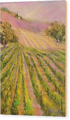 Vintners Delight Wood Print by Sally Seago