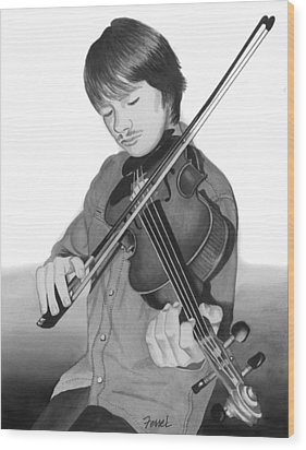 Wood Print featuring the painting Viola Master by Ferrel Cordle
