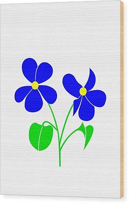 Violet Wood Print by Asbjorn Lonvig