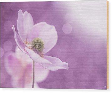 Violet Breeze Wood Print by Lisa Knechtel
