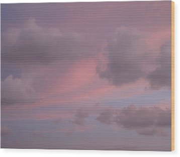 Violet Cloud Formation 1 Wood Print