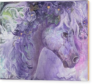 Violet Fantasy Wood Print by Sherry Shipley