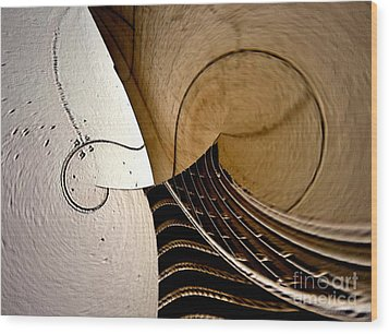 Violin In Abstract Wood Print by Irma BACKELANT GALLERIES