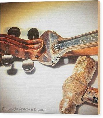 Violin Mechanics  Wood Print