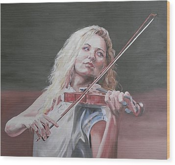 Violin Solo Wood Print