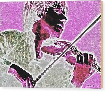 Violin Wood Print by Stephen Younts