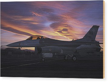 Viper Sunset Wood Print by John Clark