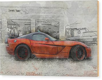 Wood Print featuring the photograph Viper Zero To 60 by Joel Witmeyer
