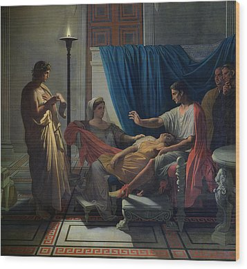Virgil Reading The Aeneid Wood Print by Jean Auguste Dominique Ingres