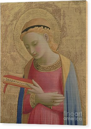 Virgin Annunciate Wood Print by Fra Angelico