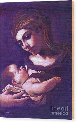 Virgin Mary And Baby Jesus, The Greatest Gift Wood Print