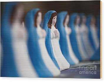 Virgin Mary Wood Print by Gaspar Avila