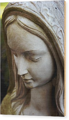 Virgin Mary Wood Print by Off The Beaten Path Photography - Andrew Alexander