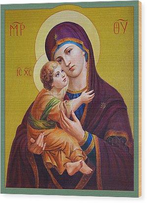 Virgin Of Silver Spring - Theotokos Wood Print
