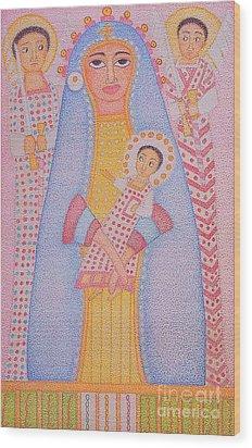 Virgin Saint Mary And Her Son Wood Print