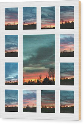 Wood Print featuring the photograph Virgina Lights by Robin Coaker