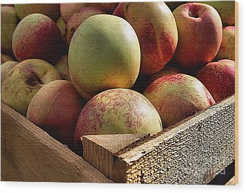 Virginia Apples  Wood Print by John S