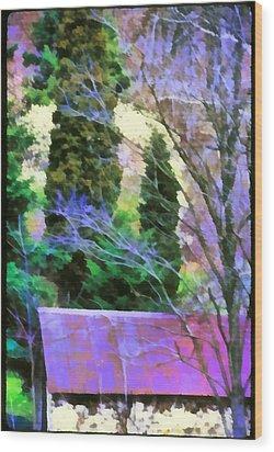 Virginia Barn Wood Print by Jim Proctor