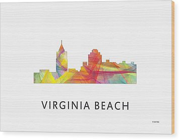 Virginia Beach  Virginia Skyline Wood Print by Marlene Watson