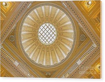 Virginia Capitol - Dome Wood Print