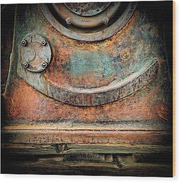 Virginia City Rust Wood Print by Steve Siri