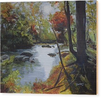 Virginia Lovely Stream Wood Print