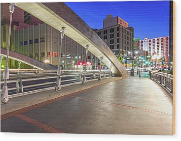 Wood Print featuring the photograph Virginia Street Bridge Reno Nevada by Scott McGuire