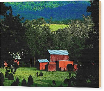 Virginia Valley View Wood Print