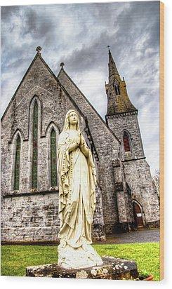 Virign Mary Wood Print by Natasha Bishop