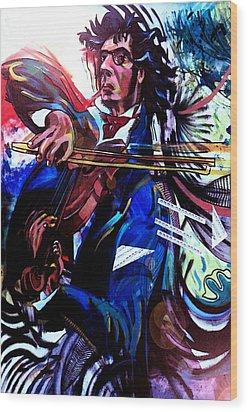 Virtuoso Violinist Wood Print by Jose Roldan Rendon