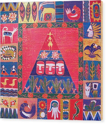 Vision Of Mexico Wood Print by Aliza Souleyeva-Alexander
